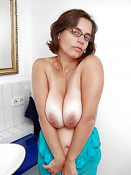 Glasses, Mature big boobs, Mature glasses, Mature boobs, Glass, Big mature