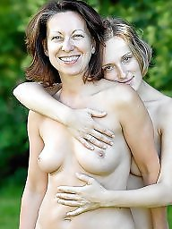 Mature lesbian, Young, Aunt, Lesbian mature, Young girls, Young and old