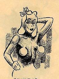 Vintage, Comix, Vintage cartoons, Vintage cartoon, Vintage tits