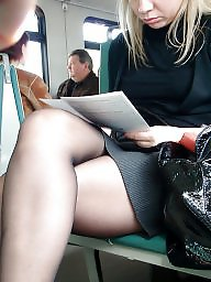 Nylon, Legs, Candid, Train stocking, Train, Stockings voyeur