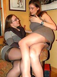 Upskirt, Legs stockings