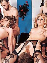 Vintage, Club, Magazine, Group sex