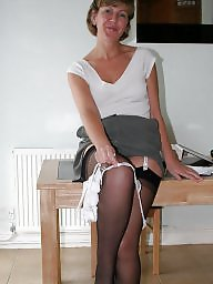 Office, Uk mature, Stocking mature, Mature in stockings