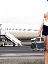 Public, Stewardess, Public nudity, Hostess