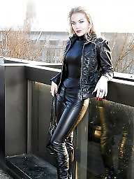 Boots, Leather, Latex, Milf leather, Femdom milf