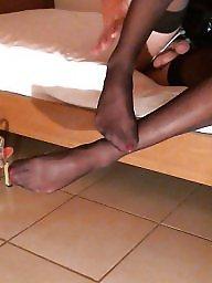 Femdom, Black, Nylon, Heels, Nylons, Bisexual