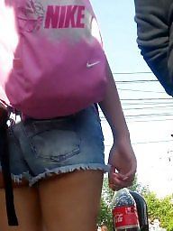 Shorts, Spy, Teen ass, Romanian, Short, Cam