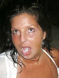 Amateur facials, Milf facial