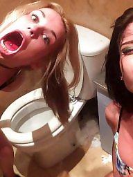 Toilet, Girl, Girl on girl