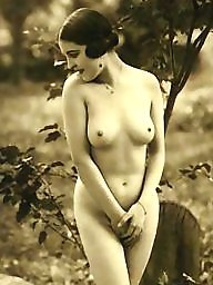 Vintage, Lady, Natural, Nature, Vintage amateur