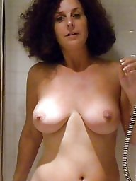 Bathroom, Shower, Mature wife, Mature shower
