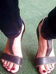 Candid feet, Milf feet