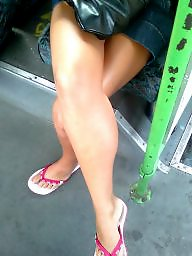 Voyeur, Leggings, Bus, Crossed legs, Teen legs, Hungarian
