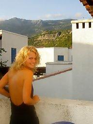 Blond, Pose, Hot milf