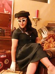 Dressed, Gloves, Vintage amateur, Real amateur, Dresses