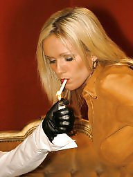 Smoking, Latex, Nylon, Lesbian milf, Smoke, Milf stocking