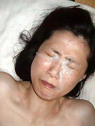 Dildo, Creampie, Facial, Facials, Asian creampie, Public slut