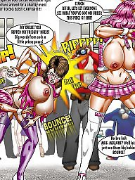 Comic, Comics, Catfight, Catfights, Cartoon comic, Cartoon comics