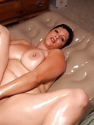 Oiled, Bbw amateur, Oil, Bbw boobs, Big mature, Ups