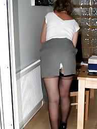 Office, Uk mature, Stocking