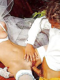Orgasm, Bride, Dressing, Mature dress, Wedding, Sexy dress