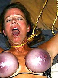 Tights, Big breasts, Breast, Purple, Slut wife, Rope