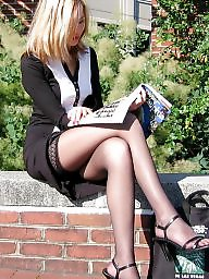 Nylons, Amateur nylon, Street, Upskirt stockings