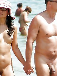 Nudist, Couples, Couple, Hanging, Nudists, Public amateur