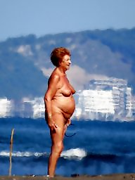 Granny, Granny beach, Grannies, Mature beach, Mature granny, Nude beach