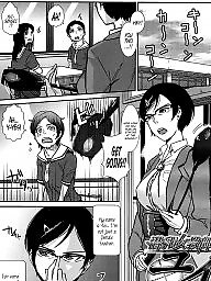 Teacher, Manga, Breast, Female