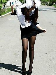 Pantyhose upskirt, Pantyhose, Miniskirt, Girls, Upskirt pantyhose, Upskirt stockings