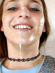Face, Teen facial, Facials, Faces, Teen facials, Amateur cum