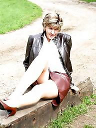 Mature stockings, Park, Uk mature, Parking, Country