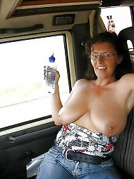 Car, Cars, Women, Mature boob