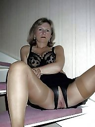 Spreading, Stockings, Spread, Mature spreading, Mature spread, Tanned