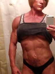 Piercing, Pierced, Bodybuilder, Female