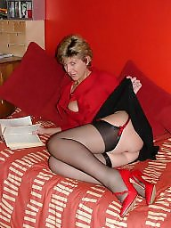 Stocking, Mature in stockings, Stockings mature, Red, Uk mature, Red mature