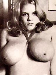 Spreading, Spread, English, Vintage boobs