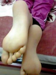 Foot, Fetish, Stockings tits, Foot fetish