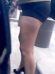 Heels, Candid, High heels, Milf upskirts