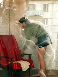 Window, Spy, Voyeur mature, Through