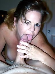 Cock, Mature blowjob, Brunette mature