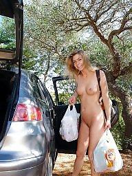 Shopping, Shop, Public nudity, Naked