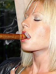 Smoking, Blonde mature, Mature blonde