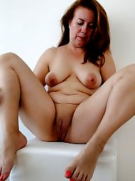 Fat mature, Chubby, Fat, Spreading, Spread, Mom