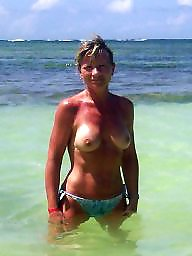 Mature beach, Beach mature, Amateur milf, Sun, Beach milf, Mature love