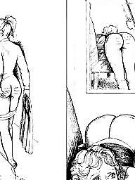 Bdsm, Panty, Bdsm cartoon, Comix, Art, White panties