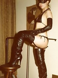 Boots, Pvc, Latex, Leather, Mature latex, Mature leather