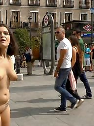 Naked, Public fuck, Flashing in public