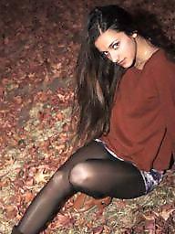 Nylons, Amateur nylon, Upskirt stockings, Street